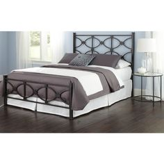 The Marlo Bed delivers a sense of sophistication blended with rustic charm, thanks to the Burnished Black finishing. The square side posts are topped with flat, square finials. A circular design within the headboard and footboard is offset by the straight lines of the top and bottom rails, creating an interesting visual that grabs the attention. This model not available in retail locations, ONLINE ONLY and can ship for FREE* directly from the manufacturer via UPS or via Sit 'n Sleep's...