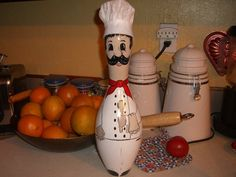Chef Bowling Pin by erwindoodads on Etsy, $30.00