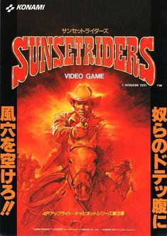 Sunset Riders   Konami, 1991 #arcade #flyer #art #retro #games