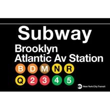 Brooklyn/Atlantic Avenue Subway Sign Bring your favorite subway stop or line home with you today with this fun replica of the actual MTA sign for Brooklyn's Atlantic Avenue Subway. Great for indoor Brooklyn Girl, Brooklyn New York, Brooklyn Bridge, New York City, Nyc Subway Map, New York Subway, Subway Art, I Love Ny, How To Memorize Things