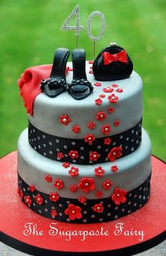 Admirable 44 Best 40Th Birthday Cakes Images 40Th Birthday Cakes 40Th Funny Birthday Cards Online Bapapcheapnameinfo