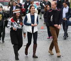 William and Kate were gifted 'dancing vests' by their hosts, which they appeared to be wea...