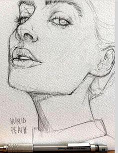 Art Sketchbook Ideas Drawings Easy – Art World 20 Cool Art Drawings, Pencil Art Drawings, Art Drawings Sketches, Realistic Drawings, Easy Drawings, Drawing Ideas, Hipster Drawings, Drawing Step, Portrait Sketches