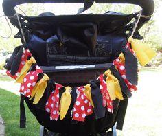 Stroller Identifier Fabric Banner Rag Tie by Pumpkinseedscreation