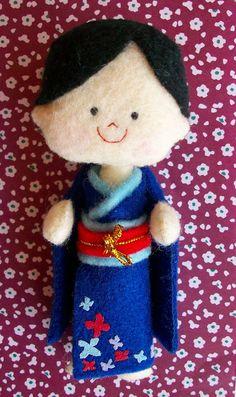 Japanese Felt Doll