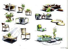 marker furniture sketches by zlaja.deviantart.com