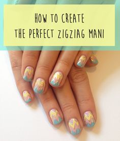 How To Create The Perfect Zig-Zag Mani In 9 Easy GIFs