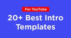 11 Best YouTube Video Intro Ideas images in 2019   You