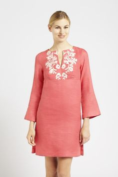 Parasol — Embroidered Linen Day Dress Collection - Linen Dress with Moroccan-Ins