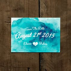 Personalised Watercolour Wedding Save the Date by FeelGoodInvites, £1.49