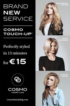 #cosmohairstyling #brand #new #service #touch-up #15,- #perfect #hair