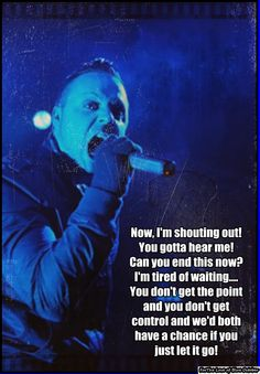 Blue October lyrics, the getting over it part.