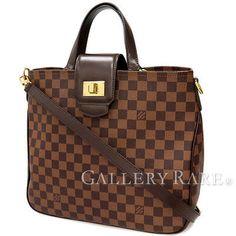 Authentic-Louis-Vuitton-Shoulder-Handbag-Damier-Cabas-Rosebery-N41177-GR-1806526