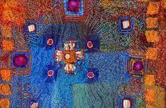 Julia. Opus School of Textiles. Mandala (Julia). Hand embroidered panel - detail.