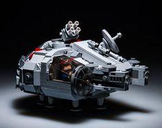 Millennium Falcon from the Star Wars saga.