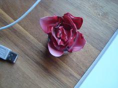 Plastiklöffel-Rose