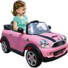 Superb Pink Mini Cooper Ride on with Remote Control Now At Smyths Toys UK! Buy Online Or Collect At Your Local Smyths Store! We Stock A Great Range Of Electric Ride Ons At Great Prices. Mini Cooper S, Toys R Us, Girls Electric Car, Mini Driver, Baby Doll Nursery, Kids Ride On, Cute Cars, Outdoor Toys, Garden Toys
