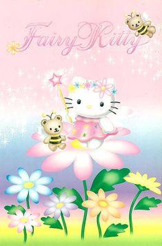 Fairy Wallpaper, Sanrio Wallpaper, Spring Wallpaper, Pink Wallpaper Iphone, Walpaper Hello Kitty, Pink Wallpaper Hello Kitty, Hello Kitty Backgrounds, Melody Hello Kitty, Pink Hello Kitty