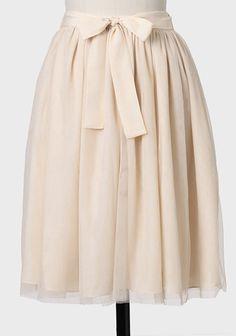 Tulle Skirt In Cream