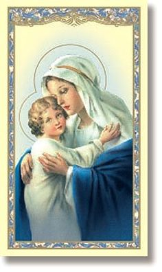 Religious Catholic Gift Madonna with Jesus Christ Child Memorare of Saint Bernard Prayer Holy Card - READ MORE @ http://www.finejewelry4u.com/jewelry100/13811/?126