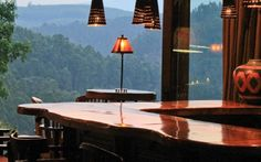 Magnificent view from the private guest-only bar at Tanamera Lodge. Find Tanamera between Sabie and Hazyview, Mpumalanga, South Africa. Bed And Breakfast, South Africa, Relax, Luxury, Places, Landscapes, Home, Travel, Bar