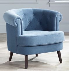 Elwood Blue Accent Chair Living-room Bedroom Decor Furniture Home Office Den  | eBay