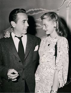 Humphrey Bogart and Lauren Bacall, 1945- so in love