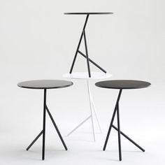 Penny loungebord, Busk+Hertzog, Penny loungebord i sort og hvid