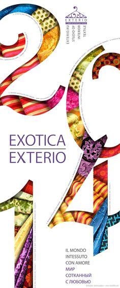 Мир, сотканный с любовью: 14 креативных дизайнерских фотографий. Календарь на 2014 год - Exotica Exterio для студии интерьерных тканей