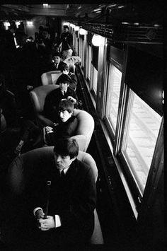 The Beatles - February 12, 1964 Arriving at Pennsylvania Station  Bill Eppridge, photographer