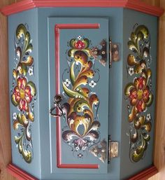 rosemaling furniture | rosemaling for furniture - Google Search