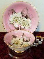Vintage Chuba China Cherry tea cup and saucer