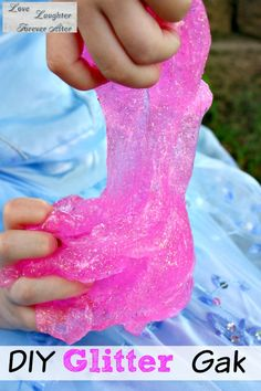 Have some fun and get a little gross with this Homemade Glitter Gak Recipe!