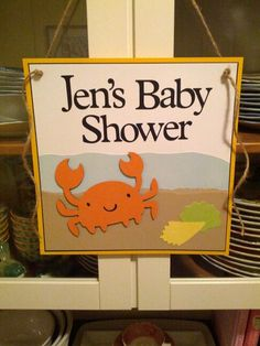 Beach baby shower -using create a critter and Alphalicious
