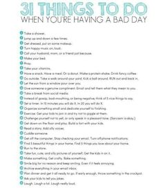 In case of a bad day..