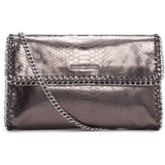 MICHAEL Michael Kors Oversize Chelsea Python-Embossed Clutch Bag ($298) found on Polyvore