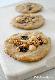 Postres Saludables   Cómo hacer galletas integrales con cereales y frutos secos   http://www.postressaludables.com