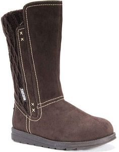 Muk Luks Stacy Boot (Women's) Stylish Boots For Women, Stylish Winter Boots, Short Winter Boots, Ugg Winter Boots, Riding Boots Fashion, Winter Fashion Boots, Suede Ankle Boots, Shoe Boots, Calf Boots
