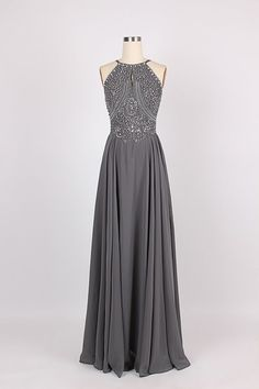 Spaghetti strap beading bare back chiffon prom dress beading prom dress fashion evening gown