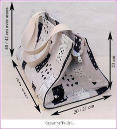 9b3886b3cc Tuto couture PDF patrons et explications du sac Capucine 3 tailles DIY –  Carofil-Créations