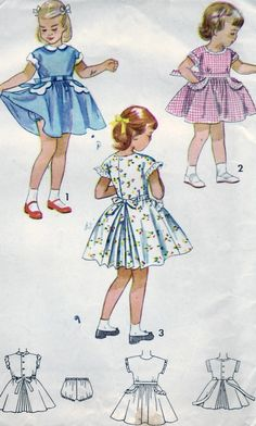 FREE SHIPPING Vintage 1950 Simplicity 3295 by SewUniqueClassique