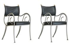 Iron Armchairs by Shaver-Howard, Pair