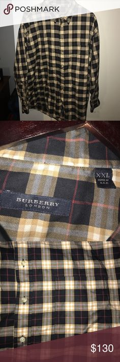 Burberry London Causal Button-up Burberry London Causal Button-up. Size XXL. Great Condition! Once once, dry cleaned, and repackaged! Burberry Shirts Casual Button Down Shirts