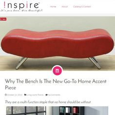 Blog Post!! Why Benches Are The New Go-To Home Accent - They are a multi-function staple that no home should be without  http://worldwidehomefurnishingsinc.com/blog/2016/10/why-the-bench-is-the-new-go-to-home-accent-piece/