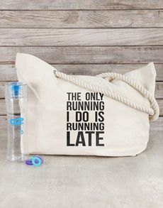 activewear: Personalised Running Late Beach Bag Kit! Running Late, Activewear, Kit, Beach, The Beach, Beaches