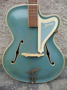 "Seltene Gitarre ""MARMA"" 50er Jahre Jazzgitarre, Schlaggitarre, Akustikgitarre | eBay"