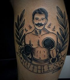Outer Dark Art | Trad boxer chap by @adamchristophertattoo