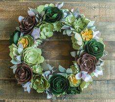 Paper Succulents Wreath - Lia Griffith