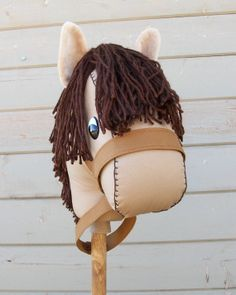 MADE TO ORDER Mocha Stick Horse or Pony Ready by RusticHorseShoe, $34.00