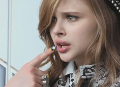 Chloe Grace Moretz lips gif